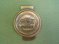 chevy chevrolet owner solid brass money clip holder with vintage antique looks