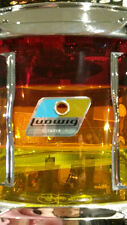 "Ludwig Vistalite 6.5x14"" Tequila Sunrise Snare Drum"