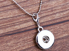 hot alloy Pendant lock necklace Fit snap chunk button without chain j2858