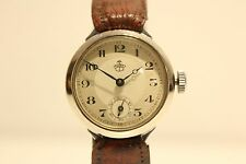"ART DECO EARLY COLLECTIBLE RARE NOS SMALL GERMANY MEN'S MECHANICAL WATCH""THIEL"""