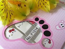 Nail Art Self Adhesive Full Toe Nails Polish Wrap Sticker Kitty Polka Dot 1014T