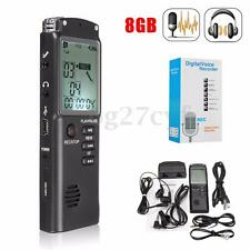 Portable 8GB Rechargeable LCD Digital Audio Voice Recorder Dictaphone MP3 Player