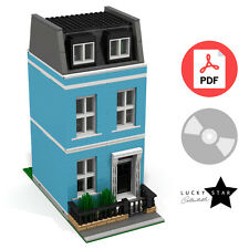 Lego Modular PDF Instructions - Blue Georgian Townhouse - London Terraced House