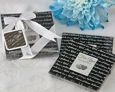 "100 Sets ""Love Is..."" Glass Coasters Gift Set Wedding Favors 2-pk"
