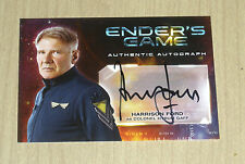 2014 Cryptozoic Ender's Game autograph Harrison Ford as Hyrum Gaff Star Wars A1
