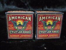 (2) Boxes Vintage Cupples American Fruit Canning Jar Rings Rings - Sealed B6040