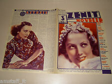 NIVES POLI=MIREILLE BALIN=1938/3=Novelle Zenit=Cover magazine=ACTRESS=ATTRICE