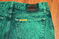 Vintage 1987 Edwin American Slim Green Acid Wash Jeans 34 x 32 Made in Japan