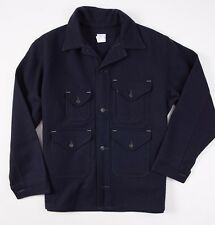 New $467 POST O'ALLS Navy Blue Melton Wool Cruzer Jacket XL USA Overalls