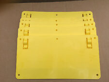 100 X YELLOW PLASTIC SIGNS - Blank Sign for Hanging Unprinted Strong Clear
