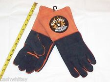 HARLEY DAVIDSON Motorcycles Premium Leather Gauntlet Work Grilling Welder Gloves