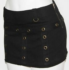 M LOLITA Boho Rockabilly Steam Punk Gypsy Gothic Goth Burlesque Ultra Mini Skirt