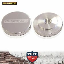 "Aeroflow Billet Polished Low Profile Air Filter Cleaner Nut 1/4"" UNC Female New"