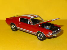 1967 FORD MUSTANG GT FASTBACK RED 1/64 SCALE LIMITED EDITION REAL RUBBER P
