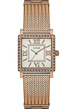 GUESS W0826L3,Ladies Dress,Stainless Steel,Rose-Tone,Crystal Accented Bezel,WR