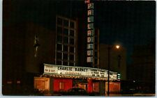 California Postcard HOLLYWOOD PALLADIUM Theatre Sunset Blvd Night Charlie Barnet
