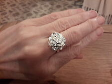 BRAND NEW 925 STAMPED SILVER ROSE RING IN A SIZE O WITH GIFT BOX