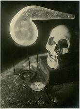 Photo Argentique Vanité Vanity Tête de Mort Vers 1930
