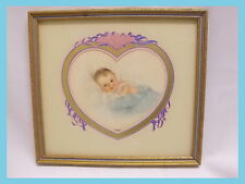1930's Charlotte Becker  Glass Framed heart Take me In Your Arms Baby Print