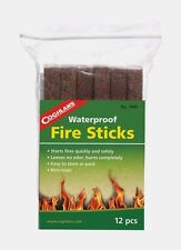 New 12pk COGHLAN'S Waterproof Fire Starter Sticks Scouts Survival Camping 7940!!