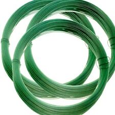 4 Rolls 15m x 1.5mm ROLL OF PVC COATED GREEN GARDEN WIRE  **Limited Stock**