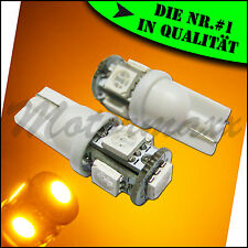 5 SMD,LED,Gelb,Yellow,Orange,T10 Standlicht,w5w,Beleuchtung,Innenraumbeleuchtung