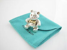 Tiffany & Co RARE Silver 18K Gold Teddy Bear Brooch - EXCELLENT CONDITION!