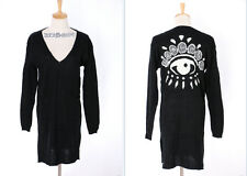 TH-09 Gr. S-M Strickjacke Cardigan schwarz black Eye Gothic Japan Trend Fashion