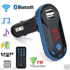 Bluetooth Car Kit MP3 Player Wireless FM Transmitter Handsfree USB TF SD Remote