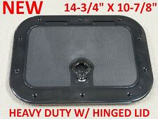 "NEW Boat Access Hatch 14-3/4"" x 10-7/8"" Heavy Duty Hinged Lid Water Tight 12795B"