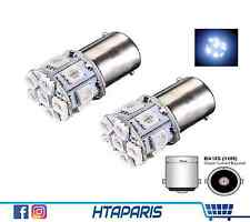 2 Ampoules BA15S P21W Phare Marche Arriere ULTRA BLANC WHITE 1156 13 SMD 12V