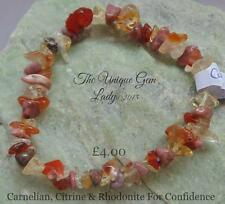 Confidence Blend Chip Bead Beaded Stretch Bracelet ~ Gemstone Crystal Healing