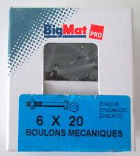 Boulons Mecaniques tete hexagonale 6X20 Big Mat pas cher