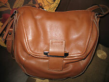 NWT  Kooba  Gary  Leather Cross Body Bag  CARAMEL