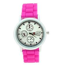Sports Watch Women Watch Silicone Rubber Jelly Gel Casual Quartz Wrist Watch HOT