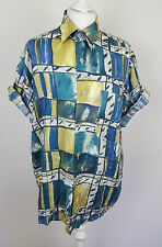 VTG RETRO AZTEC FLORAL URBAN RENEWAL OVERSIZED BRIGHT FESTIVAL SHIRT BLOUSE UK M