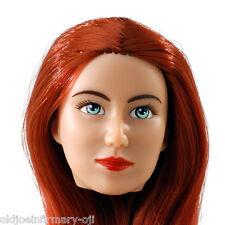 FemBasix CG Cy Girl Lia Female Figure Head Red Hair Tan Skin 1:6 Scale