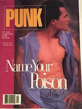 RARE! PUNK MAGAZINE FOR MEN, Volume 2, Number 2, Nude Muscle Men/Gay Interest