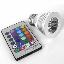 3W E27 16 Color LED RGB Magic Spot Light Bulb Lamp Wireless Remote Control