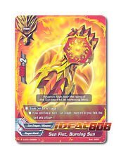 Buddyfight x 4 Sun Fist, Burning Sun [D-BT01/0095EN C] English Mint Future Card