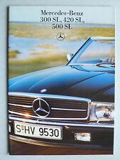 Prospekt Mercedes R 107 - 300 SL, 420 SL, 500 SL, 5.1986, 34 Seiten