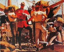 2 Canadian Mountie RMCP showing Dock Workers Wanted Poster A Friberg