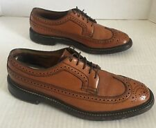 Vintage Florsheim Imperial Wingtip USA Brown Leather Men 7.5 D US 635987 93602