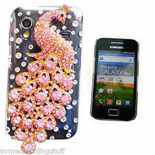NEW BLING 3D COOL ANIMAL DELUX DIAMANTE CASE COVER 4 IPHONE SAMSUNG GALAXY ACE