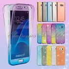 Shockproof 360° Silicone Protective Clear Cover Case For Samsung Galaxy Phones