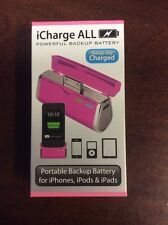 Triple C iCharge ALL iPhone iPad iPod Charger Battery Pack Fuchsia / Pink
