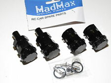 YY-EXTENDED WHEEL ADAPTOR CONVERSION KIT 24MM HEXES MADMAX HPI ROVAN BAJA BLACK