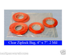 "100 2mil Ziplock 4"" x 7"" SEALABLE Plastic Small Jewelry Beads Food Grade Bags"