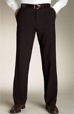 HUGO Boss CRAVIN Pants TROUSERS Gray FLAT Front MODERN Fit SZ Man STRIPE 32 31**