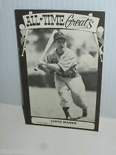 TCMA ALL-TIME GREATS 1973 VINTAGE PHOTO STYLE BASEBALL CARD LLOYD WANER
